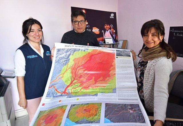 Arequipa presenta su mapa de peligros 3D por el volcán Misti