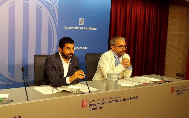 Chakir El Homrani i Josep Ginesta