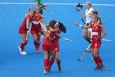 Foto: España arrolla a Sudáfrica y endereza su rumbo en el Mundial femenino de hockey hierba