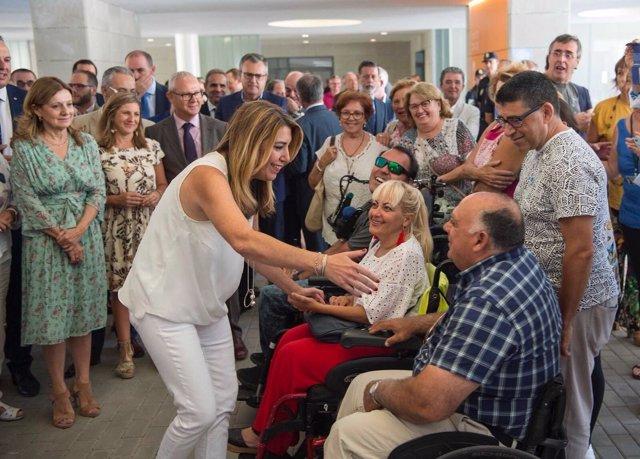 Susana Díaz en la inauguración del nuevo Hospital de La Línea
