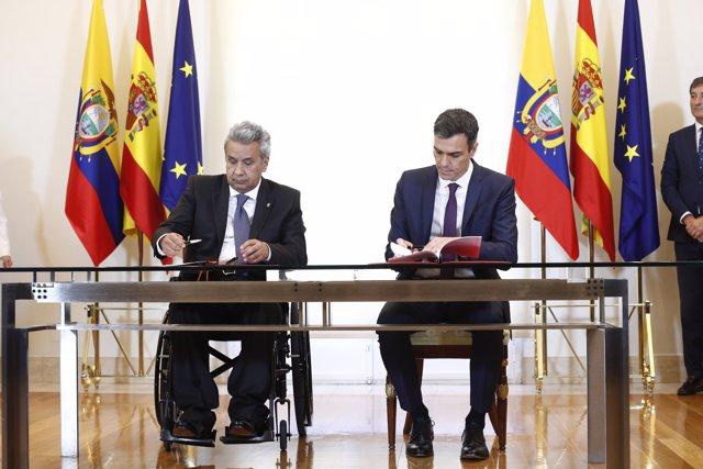 El presidente del Gobierno, Pedro Sánchez, recibe al presidente de la República