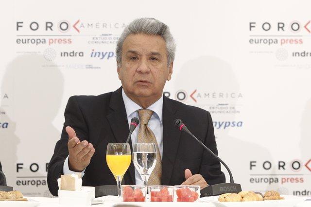 El presidente de la República del Ecuador, Lenín Moreno, protagoniza el desayuno