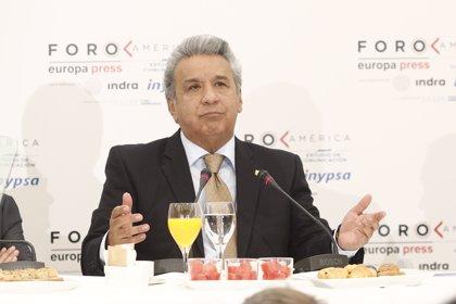 """Lenín Moreno confía en que la UE exima de visado a los ecuatorianos """"a medio plazo"""""""