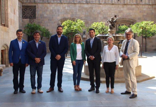 Elsa Artadi es reuneix amb l'ACM i la FMC en la Generalitat