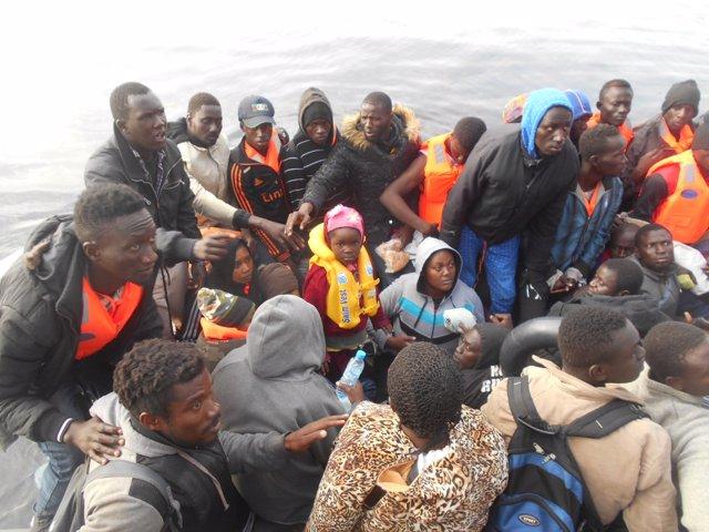 Inmigrantes llegados a la Isla de Alborán