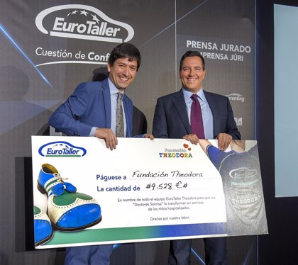 EuroTaller dona 9.528 euros para mejorar estancia de niños ingresados con las visitas de 'Doctores Sonrisa'