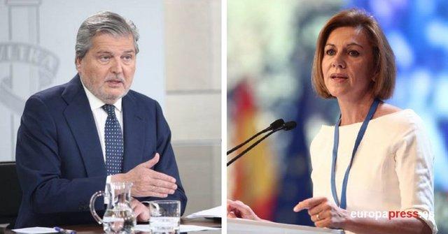 María Dolores de Cospedal e Íñigo Méndez de Vigo