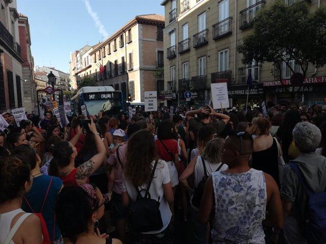 Manifestación en apoyo de Juana Rivas en Madrid