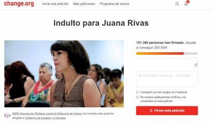 Más de 150.000 personas firman una petición para que se indulte a Juana Rivas