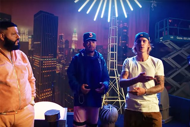 Justin Bieber, Quavo, Chance the Rapper y DJ Khaled