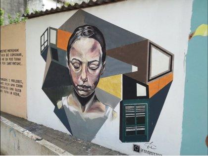 Un total de 15 jóvenes colaboran en un campamento de trabajo de arte urbano en Sa Pobla