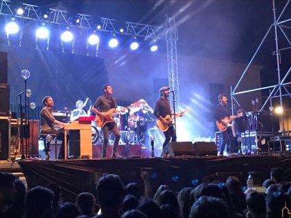 El concierto de Sidecars en Cózar congrega a más de 1.500 personas