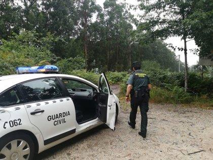 Rescatado un joven de Pontevedra que se perdió en el monte de A Fracha cuando practicaba senderismo