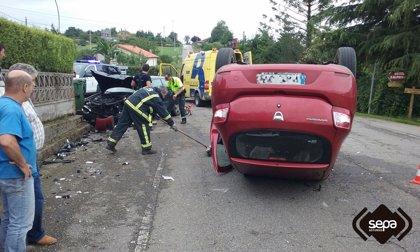 Dos heridos de diversa consideración en un accidente registrado en Villaviciosa