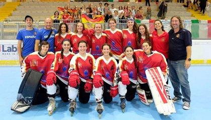 Las Junior de hockey patines se proclaman campeonas del mundo por tercera vez
