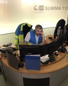 Trabajador de la  Agencia de Seguridad y Emergencias Madrid 112