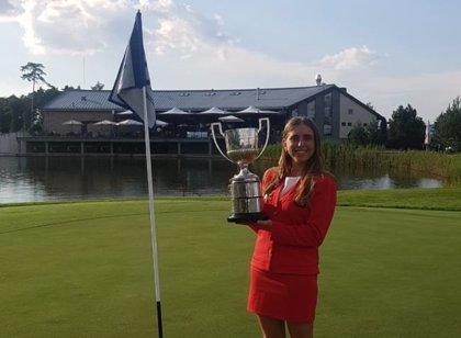 La golfista española Celia Barquín, campeona de Europa