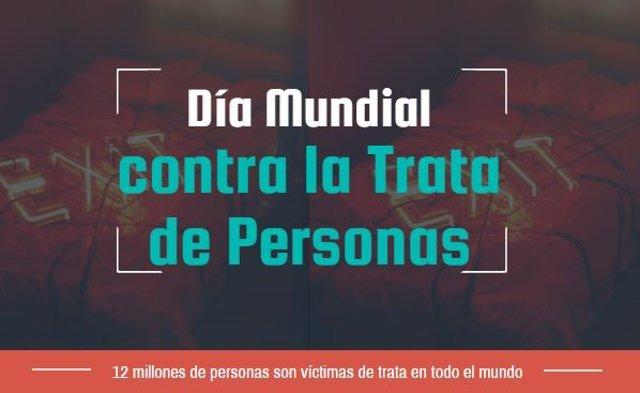 Participan en el Día Mundial contra la Trata de Personas