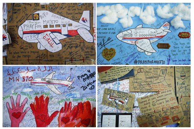 Homenaje al vuelo MH370