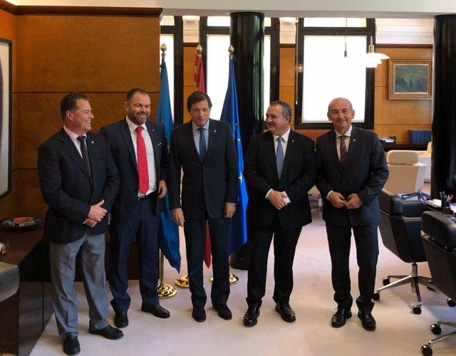 Javier Fernández, Isaac Pola y Presidentes de Cámaras de Comercio