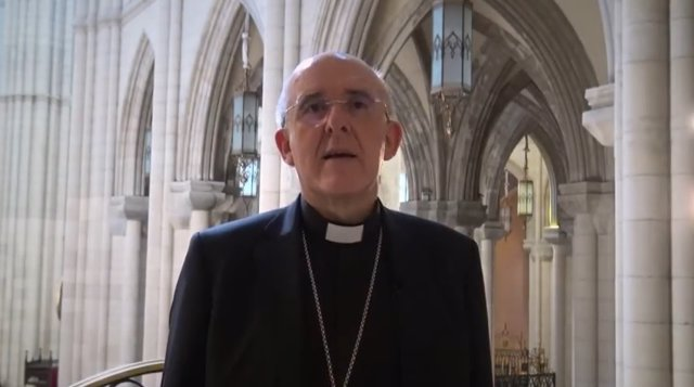 Pantallazo vídeo del arzobispo de Madrid, Carlos Osoro