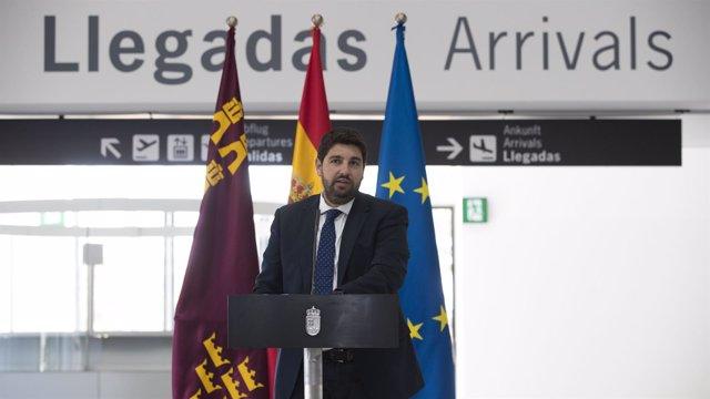 López Miras presenta el Plan Especial del Aeropuerto Internacional RM