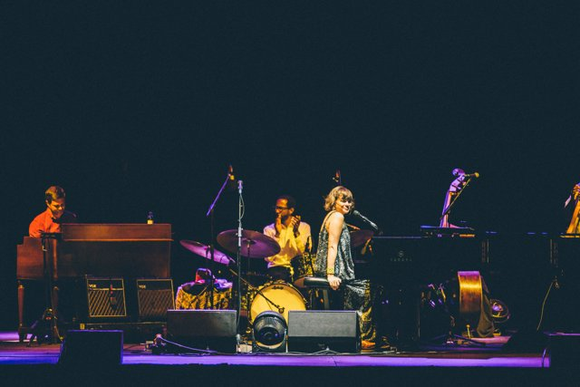 Norah Jones performs during the second annual Love Rocks NYC! concert at the Bea