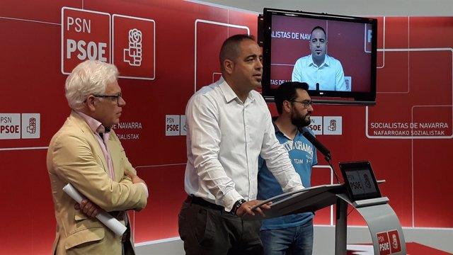 Jesús Mª Fernández, Ramón Alzórriz y Jesús Mª Rodríguez