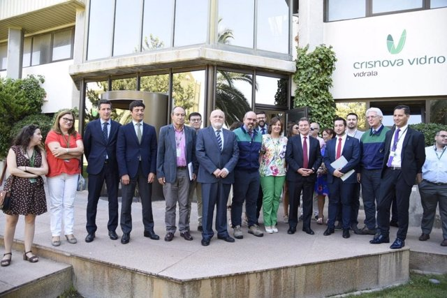 Imagen de la visita de García-Page
