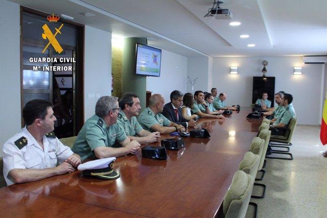 Reunión Guardia Civil y Pablo Zuloaga