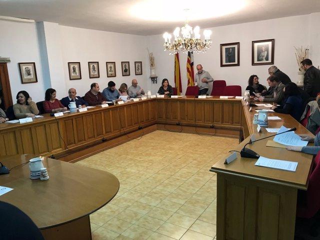 Imagen de archivo de un pleno del Ayuntamiento de Marratxí