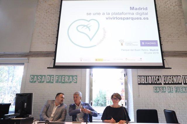 La delegada Inés Sabanés presenta la nueva aplicación de 'Vivir los Parques'