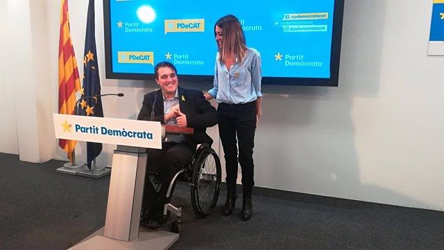 Los líderes del PDeCAT D.Bonvehí y M.Nogueras