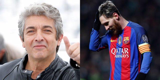 Ricardo Darín y Leo Messi