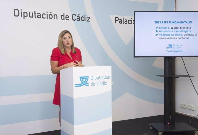 Irene García, presidenta de la Diputación de Cádiz
