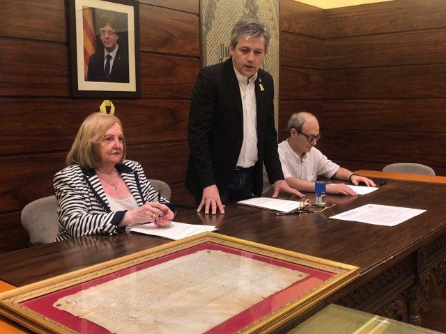 M. Claustre Baixas, David Rodríguez y Jordi Torner