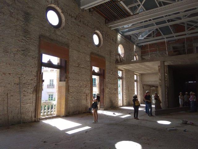 Obras en el interior de la casa consistorial de Almería en Plaza Vieja