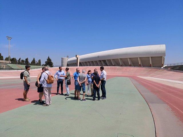 El alcalde de Palma, Antoni Noguera, visita las obras en Son Moix