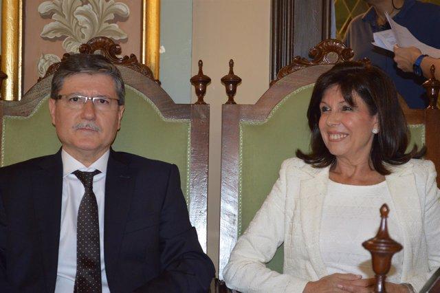 Los concejales del PP en Lleida, Joan Vilella y Dolors López