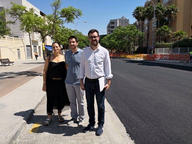 El alcalde de Palma, Antoni Noguera, visita las obras de la Av. Picasso