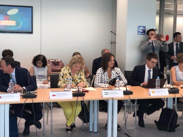 La consejera andaluza Lina Gálvez en la Conferencia Sectorial de Universidades