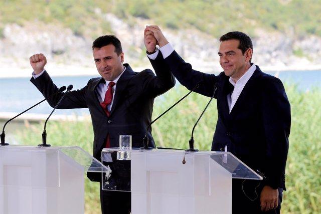 Alexis Tsipras y Zoran Zaev