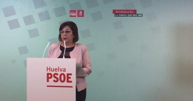 La senadora socialista por Huelva Ana Pérez.
