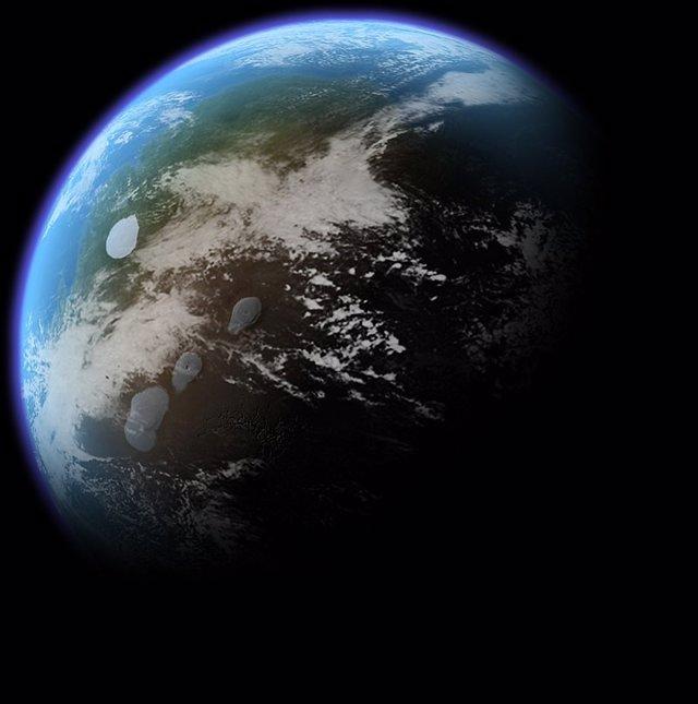 Concepto artístico de terraformación en Marte