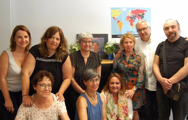 RSF homenajea a Malén Aznárez en el primer aniversario de su muerte