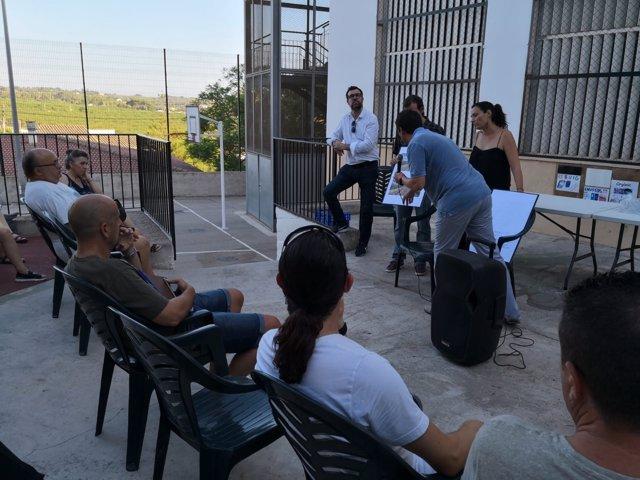 Noguera presenta a los vecinos de Sant Jordi el proyecto de reforma del paseo