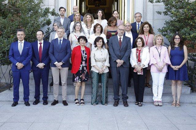 Sánchez Rubio, a la derecha en primera fila, en Conferencia Sectorial Igualdad