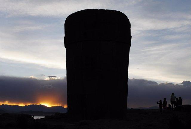 Tumba del periodo preinca en Tiwanaku.