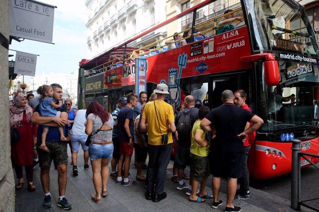 Autobús turístico de Madrid, turismo, turistas, turista