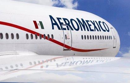 Imágenes del instante en el que cayó el avión de Aeroméxico